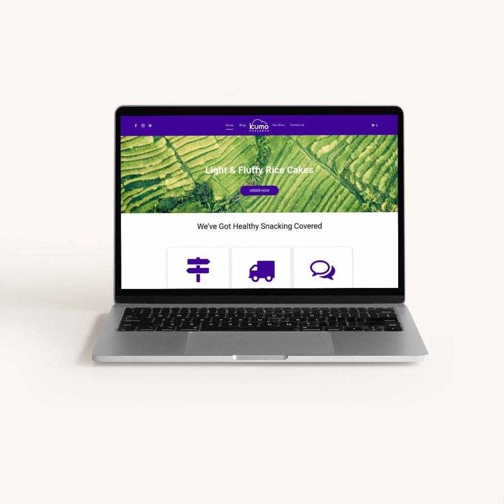 Website design for vegan rice cake company