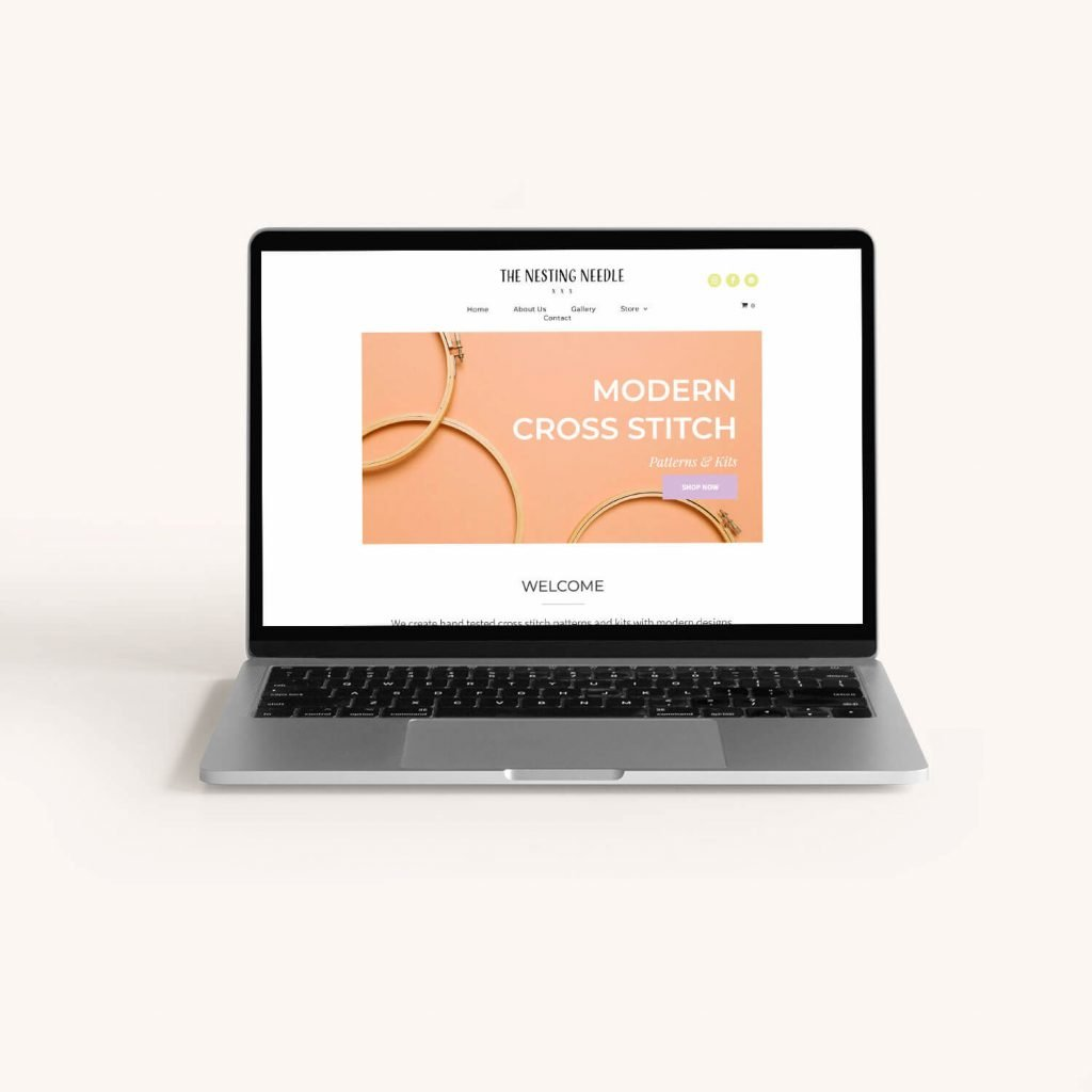 an e-commerce website design for a crafting business in Talent, Oregon